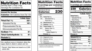 nutrition labels side by side copy