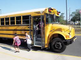 getting off school bus
