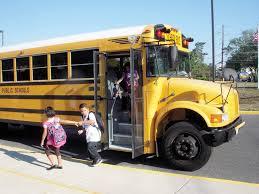 getting off school bus